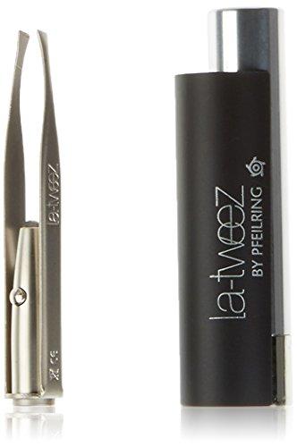 Pfeilring La Tweez Pinzette mit LED, schwarz, Triangelbox