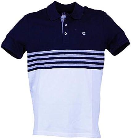 Champion - Polo para Hombre, Bicolor, Color Blanco, Hombre, Bianco ...