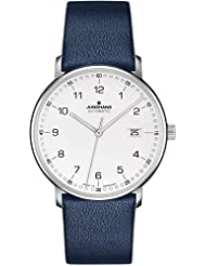 Junghans Form A Automatic Date Matte Silver Dial Blue Leather Strap 027/4735.00