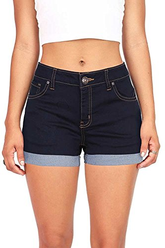 Wax Women's Juniors Perfect Fit Mid-Rise Denim Shorts