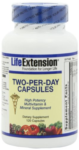 Life Extension Two Per Day Capsules, 120 Count, Health Care Stuffs