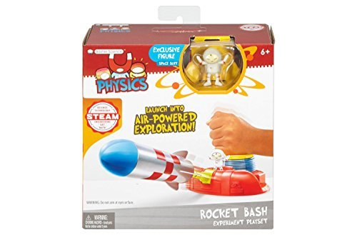 Basher Science - ROCKET BASH EXPERIMENT PLAYSET - Based on the Delightful Basher Science Book Series, Set comes with an Exclusive Physics Mini-Figure: Space Suit. - Exclusive Mini Figure Set