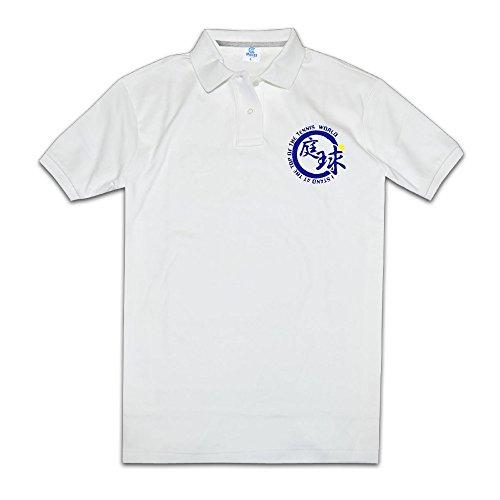 パイナップルメンズポロシャツ庭球 テニスボール テニス 部活動 スポーツ応援 スポーツウェア White