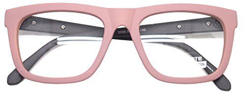 Nerd Geek Retro Square Oversized Horn Rim Classic Eye Glasses Clear Lens Spectacles - Spectacles Classic