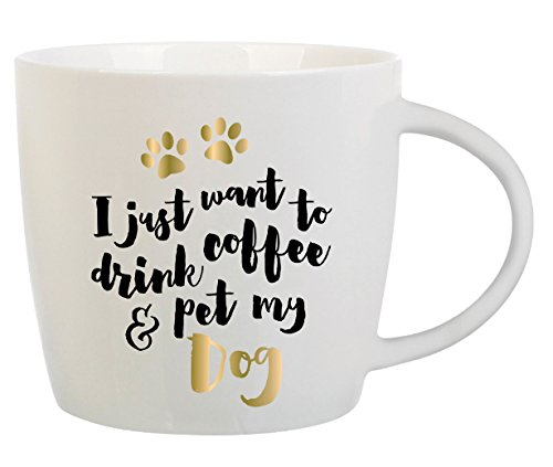 Dog Lover Gift - Coffee Mug with Message - I Just Want To Make You Laugh