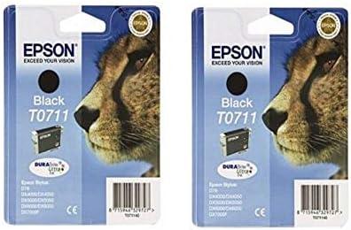 Epson Tintenpatrone T0711 Gepard Doppelpack Schwarz Bürobedarf Schreibwaren