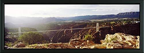 - Easy Art Prints Panoramic Images's 'Suspension Bridge Across a River, Royal Gorge Bridge, Canon City, Colorado, USA' Premium Framed Canvas Art - 36