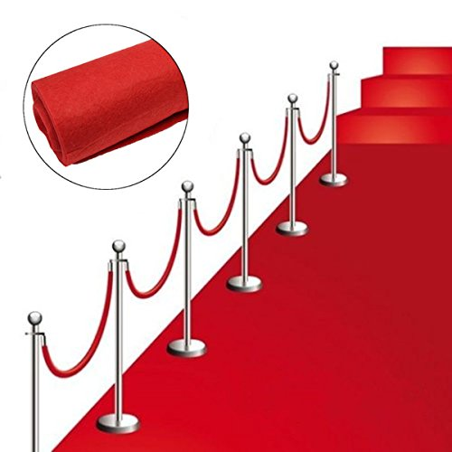 "sexyrobot Disposable Hollywood Red Carpet Runner, Wedding Accessories Party Theme Supplies and Decoration, 39"" by 32.8'"