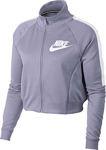 Ladies N98 Track Jacket - NIKE Women's Sportswear N98 Cropped Track Jacket (Barely Grape, X-Large)