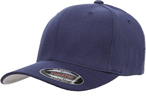 (Flexfit 6477 Wool Blend Cap - Large/X-Large (Navy))