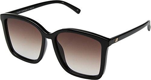 Le Specs Women's It Ain't Baroque Sunglasses, Black/Warm Smoke Grad, One - ??? Are Is Sunglasses