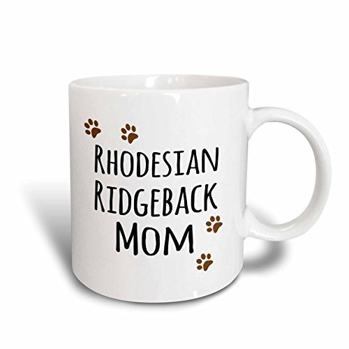 - 3dRose 154182_2 Rhodesian Ridgeback Dog Mom Mug, 15 oz, Ceramic