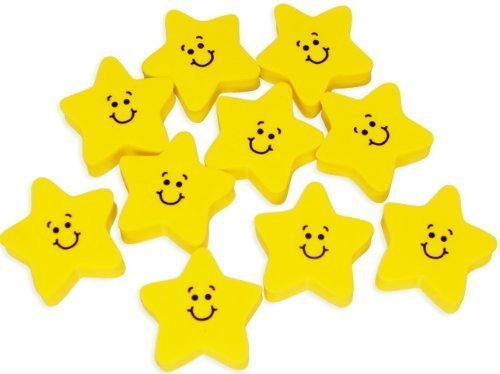 (Smile Face Star Erasers (2dz) by Oriental Trading Company)