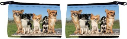 Rikki Knight Chihuahuas Dog Design Scuba Foam Coin Purse