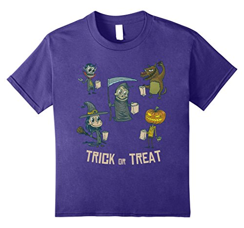 Kids Trick or Treat - Halloween Costume idea for Girls Boys 8 Purple - Halloween Ideas For Boys