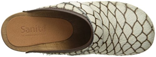 Sanita Womens Wood-caroline Open Mule Brown Snake