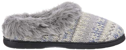 Wide Women's Slipper Width Heather Dearfoams Clog Grey Light Knit q51zwnd