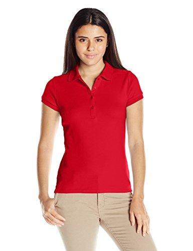 IZOD Junior's Uniform Short Sleeve Interlock Polo, Red, Small by IZOD