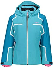CMP Girls' Ski Jacket with Hood with Buttons, Girls, 30W0225