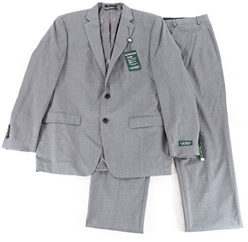 Lauren By Ralph Lauren Mens 48R Two Button Wool Pant Suit Gray 48 ()
