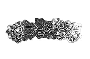 Oak Leaf Hair Clip, Large Hand Crafted Metal Barrette Made in the USA with an 80mm Imported French Clip by Oberon Design