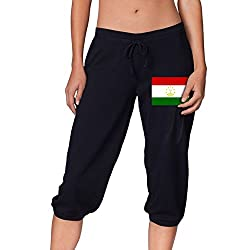 Flag Of Tajikistan Cool Women S Cropped Trousers Casual Pants Jogger Sweatpants