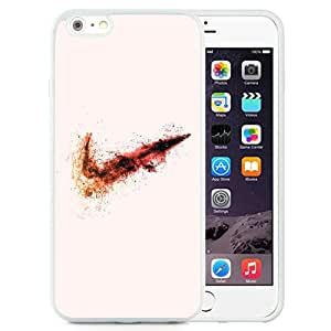 DIY TPU Phone Case Nike Firey Explosive Logo iPhone 6 Plus 5.5 inch Wallpaper in White