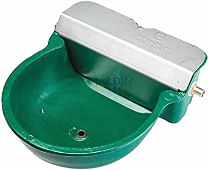 Suinga Bebedero AUTOMATICO para Caballos Pintado. Tamaño 27x33x15 cm. Fabricado en Aluminio y Acero Inoxidable