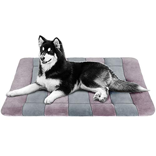 JoicyCo Large Dog Bed Crate Pad 47 in Washable Anti-Slip Dog Mat Matress Pet Beds Kennel Pads