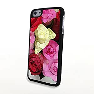 linJUN FENGGeneric PC Phone Cases Flowery Cute Colorful Flowers Matte Pattern fit for Charming Beautiful iphone 6 4.7 inch Case