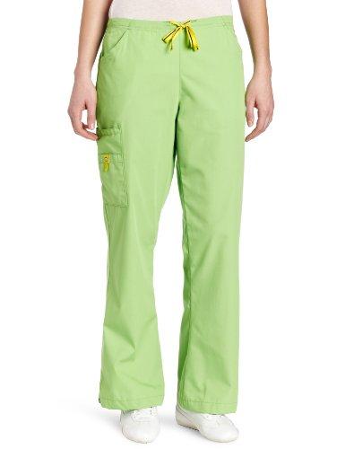 (WonderWink Women's Scrubs Romeo 6 Pocket Flare Leg Pant, Green Apple, 3X-Large)
