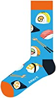 [UPGRADED] Zmart Funny Saying Knitting Word Combed Cotton Crew Wine Coffee Taco Beer Socks for Men Women