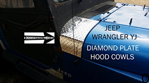 JEEP wrangler YJ - CJ7-CJ8 DIAMOND PLATE 2 PC. HOOD COWL ENDS