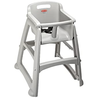 "Rubbermaid Commercial FG781400 Platinum Sturdy Chair Youth Seat without Wheels, 23.5"" Length, 23.5"" Width, 29.75"" Height"
