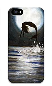 3D Hard Plastic Case for iPhone ipod touch4 5G,Mermaid Jumping Out of Sea Case Back Cover for iPhone ipod touch4