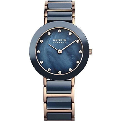 BERING Time 11429-767 Women's Ceramic Collection Watch with Ceramic Link Band and scratch resistant sapphire crystal. Designed in Denmark.