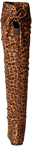 Blvd High Womens Knee West Su Boots The Over Thigh Bangkok Leopard gHxd0Pq