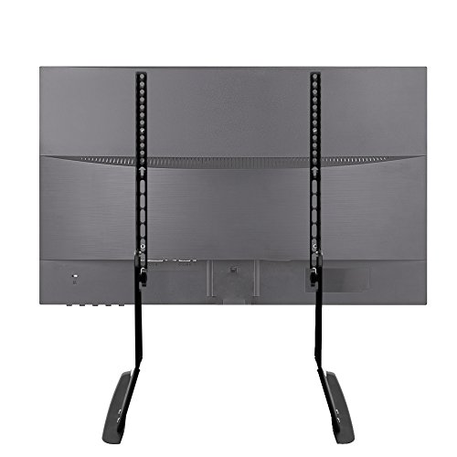 17' Lcd Flat Screen - Tabletop TV Stand for 17-55 Inch TV Stand Base Holds 88lbs VESA Up to 400x600 for LED LCD Plasma Flat Screen TV Stand with Adjustable Legs