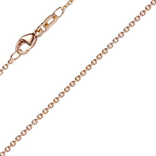 1,5mm rond Câble d'ancrage chaîne en or rouge 750Collier, 70cm