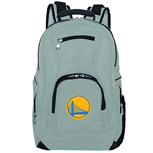 (NBA Golden State Warriors Voyager Laptop Backpack, 19-inches, Grey)