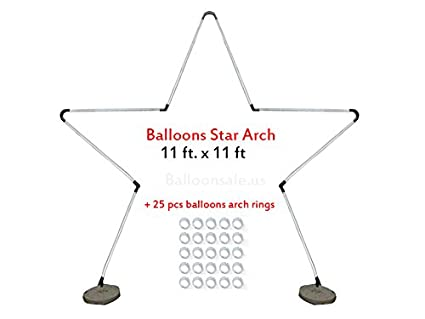Superior Large Metal Latex Balloon Star Arch Frame Kit