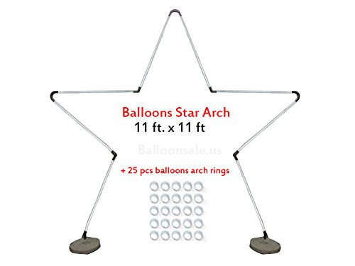 Large Metal Latex Balloon Star Arch Frame -