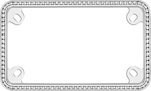 - Cruiser Accessories 77730 MC Diamondesque Motorcycle License Plate Frame, Chrome/Clear (Certified Refurbished)