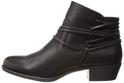 Madden Girl Womens Become Closed Toe Ankle Fashion Boots, Black Pari, Size 5.0