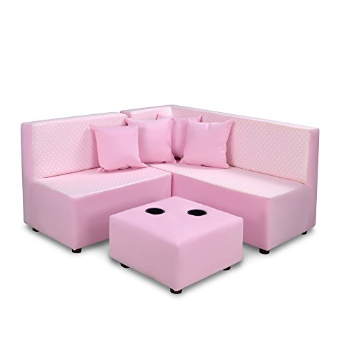 Kangaroo Trading Kids Sectional Mini Dot Bella with Bubblegum Childrens Sofas by Kangaroo Trading