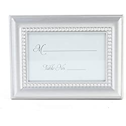 Koyal Wholesale 24-Pack Beaded Frame Placecard Favor, Silver