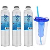 Tier1 Replacement for Samsung DA29-00020B, DA29-00020A, HAFCIN/EXP, HAFCIN, 46-9101, DA97-08006A-B Fridge Filter with an Infuser Water Bottle 3 Pack