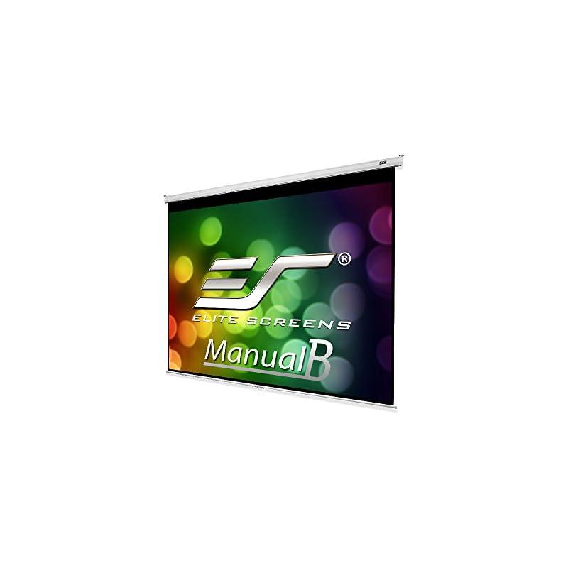 Elite Screens Manual B, 100-INCH 4:3, Ma