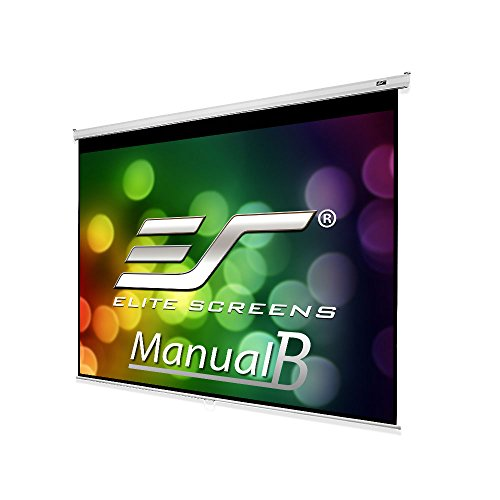 Elite Screens Manual B, 100-INCH 4:3, Manual Pull Down Projector Screen 4K / 8K Ultra HDR 3D Ready with Slow Retract Mechanism, 2-YEAR WARRANTY, M100V from Elite Screens