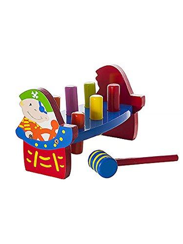 Pirat für Kinder mit tradizionellem Hammer aus Holz Klopf- & Hämmerspielzeug dröhnend Werbank Geschenk für Mädchen.